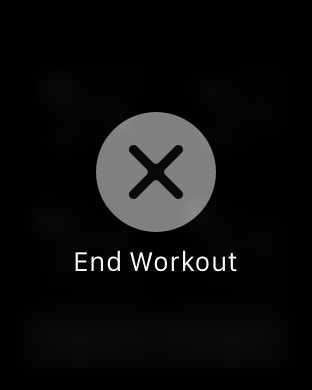 Stop workout