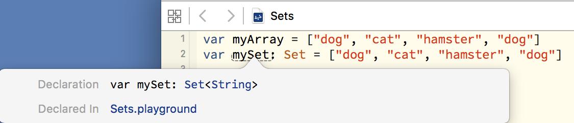 Learning Swift - Sets :: TrozWare